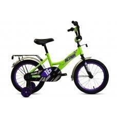 """Велосипед ALTAIR Kids 16"""" (2020) имеет специальную геометрию для детей. Прочная стальная рама, жесткая стальная вилка, одинарные обода, ножные педальные тормоза, высокий руль с мягкой накладкой. Длинные крылья, защита цепи, багажник, и звонок в компл"""