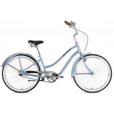 """Велосипед STINGER Cruizer Lady 26"""" (2018) это женская модель разработанная для комфортных и неспешных прогулок по городу, он привлекает внимание своим ретро дизайном. Велосипед надежный и износостойкий, рама имеет заниженную геометрию, она изготовлен"""