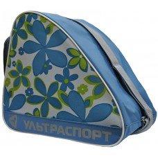 Сумка для коньков детская ULTRASPORT цветы голубо-зеленые(YTH)