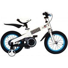 """Велосипед ROYALBABY Buttons Steel-16"""" (2020)(белый-голубой)"""