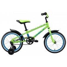 """Велосипед WELT Dingo 16"""" (2020)(кислотный-зеленый-синий)"""