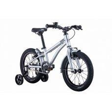 Велосипед BEAR BIKE Китеж 16 Дополнительная колесная пара обеспечивает равновесие и балансировку во время езды. За счет этого гарантирована защита от падений. Дополнительные колеса органично вписываются в яркий и оригинальный дизайн детского байка. Вес 7
