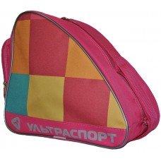 Сумка для коньков детская ULTRASPORT розовая в большой квадрат(YTH)