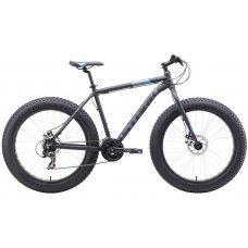 Велосипед STARK Fat 26.2 D (2019) 18 / черный-оранжевый-серый 18 ростовка
