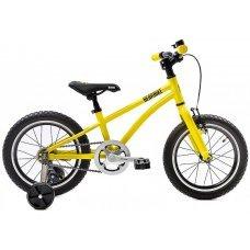 """Велосипед BEAR BIKE Китеж 16"""" (2019) - яркая модель в желтом цвете, подойдет детям от 4 лет или ростом от 100 см. Алюминиевая рама и вилка, анатомическое сидение, удобные грипсы, все это делает велосипед легким и удобным. Тормоза у велосипеда предусм"""