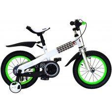 "Велосипед ROYALBABY Buttons Steel-18"" (2020)(бело-синий)"
