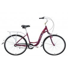 Grace 3 - очень комфортный женский городской велосипед, оборудованный планетарным механизмом на 3 скорости. Он обеспечит не только массу комфорта при катании, но и задаст изящный стиль вашей поездке. Широкое седло, высокий изогнутый руль и заниженная геом