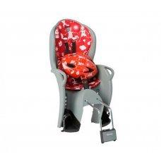 Детское велокресло HAMAX Kiss Safety Package(серо-красный)