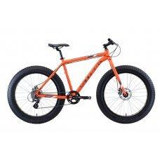Велосипед STARK Fat 26.2 D (2020) 18 / оранжево-серо-белый 18 ростовка