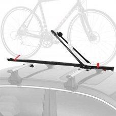 Багажник на крышу CB-641 предназначен для перевозки одного велосипеда, устанавливается на крышу автомобиля, запирается на ключ. Багажник изготовлен из стали. Вес 2,5 кг.
