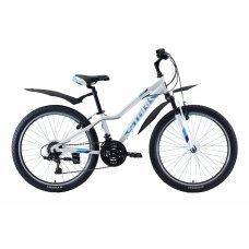 Велосипед STARK Bliss 24.1 V (2020)(бело-бирюзово-фиолетовый)