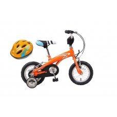 Детский двухколёсный велосипед для детей от 2 до 4 лет. Лёгкая алюминиевая рама, удобное седло, яркие цвета. В комплект к велосипеду идут защитный шлем и дополнительные колёса. Надежная конструкция велосипеда, защита цепи и руля - все предусмотрено для бе
