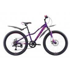 Велосипед STARK Bliss 24.1 D (2020)(фиолетово-розово-белый)