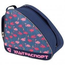 Сумка для коньков ULTRASPORT фламинго сине-серый(S)