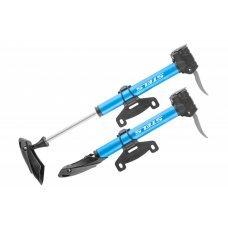 Насос STELS М21-07A ручной механический велосипедный металлический, алюминиевый корпус.