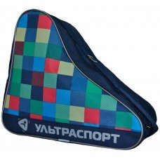 Сумка для коньков ULTRASPORT голубо-зелено-желто-красная клетка(S)