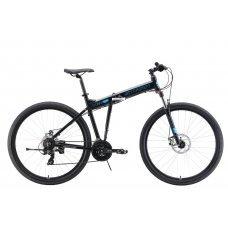 Велосипед STARK Cobra 29.2 D (2019) 18 / черный-голубой 18 ростовка