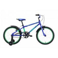 """Велосипед WELT Dingo 20"""" (2020)(темно-синий-зеленый)"""