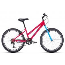 Велосипед ALTAIR MTB HT-24 low (2020) - модель начального класса, разработана для девочек от 9 лет. или ростом от 130 см. Собран на стальной раме, установлена жесткая вилка, 6 скоростей, тормоза V-типа. Велосипед ALTAIR MTB HT-24 low отлично подойдет для