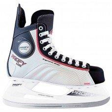 Коньки хоккейные СК PROFY LUX 3000 взрослые(44/красный)