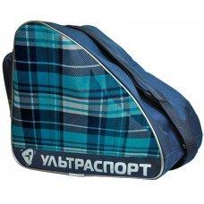 Сумка для хоккейных коньков ULTRASPORT бирюзово-синяя шотландка(S)